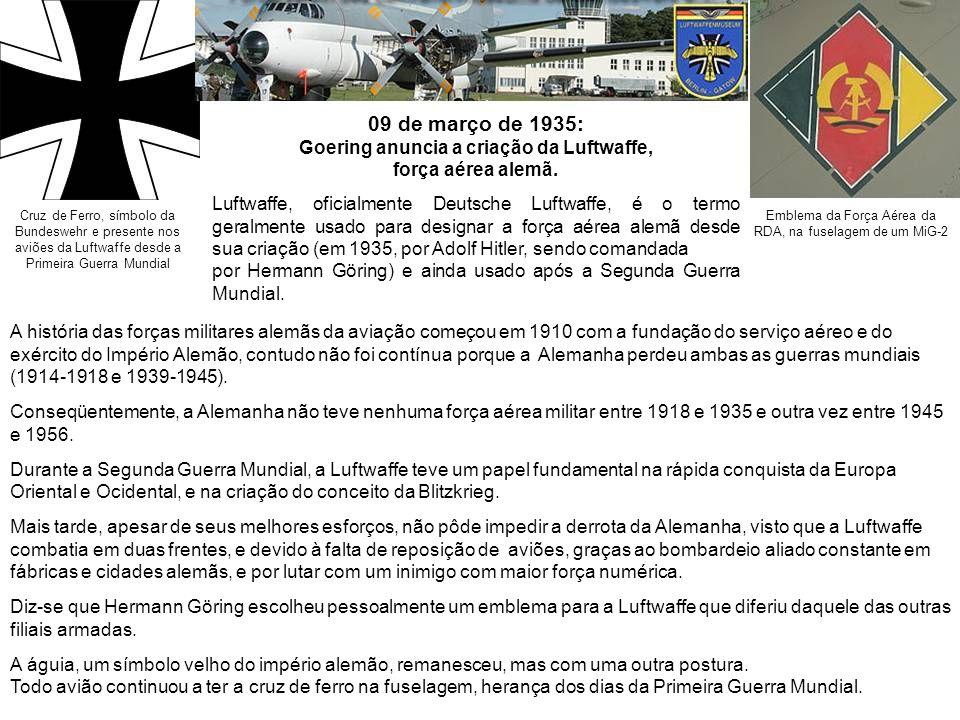 Goering anuncia a criação da Luftwaffe,
