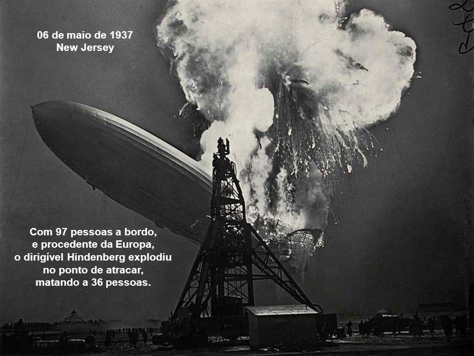o dirigível Hindenberg explodiu