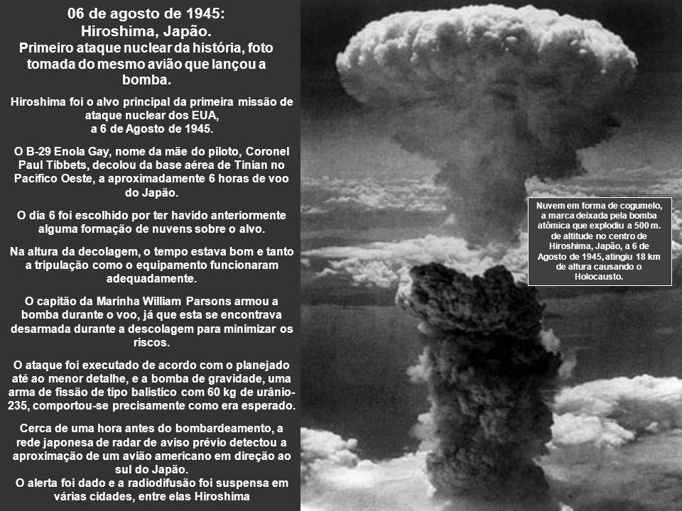 06 de agosto de 1945: Hiroshima, Japão.