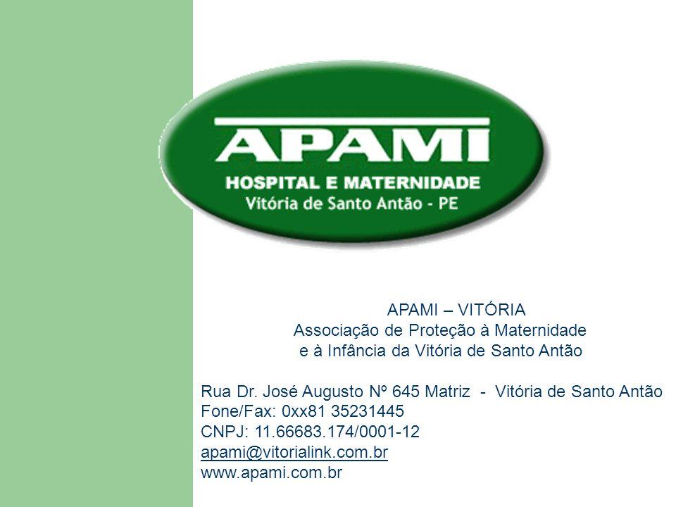 APAMI – VITÓRIA Associação de Proteção à Maternidade. e à Infância da Vitória de Santo Antão.