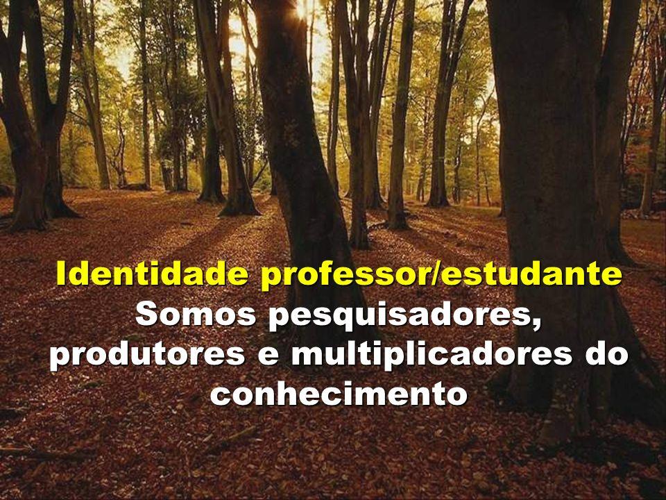 Identidade professor/estudante Somos pesquisadores, produtores e multiplicadores do conhecimento