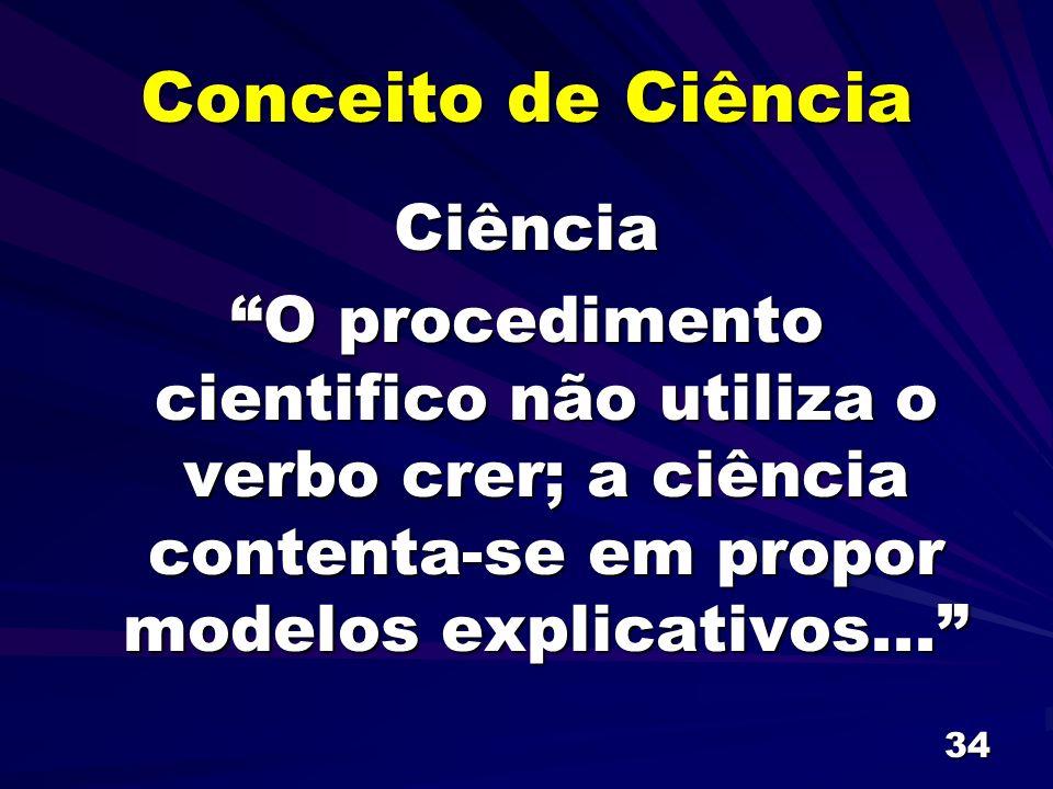 Conceito de Ciência Ciência