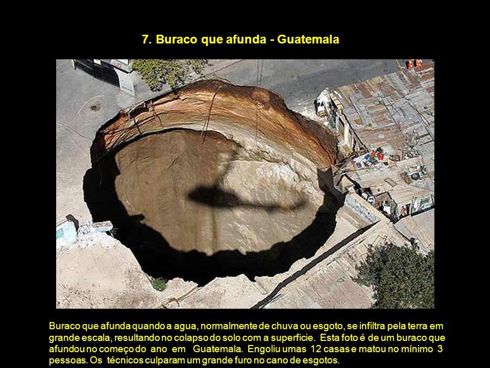 7. Buraco que afunda - Guatemala