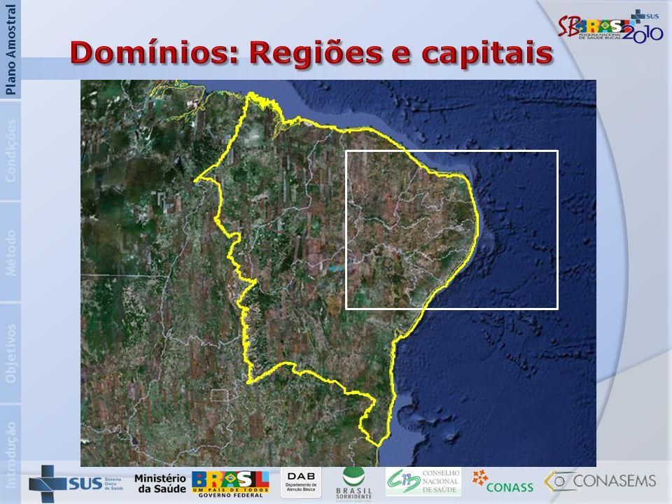 Domínios: Regiões e capitais