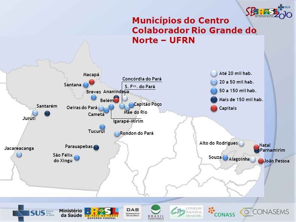 Municípios do Centro Colaborador Rio Grande do Norte – UFRN