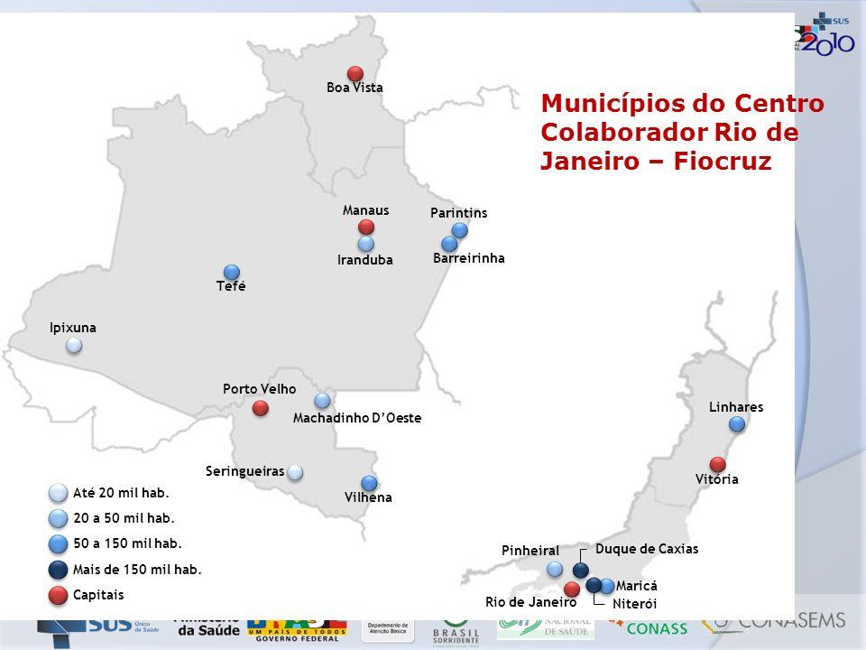 Municípios do Centro Colaborador Rio de Janeiro – Fiocruz
