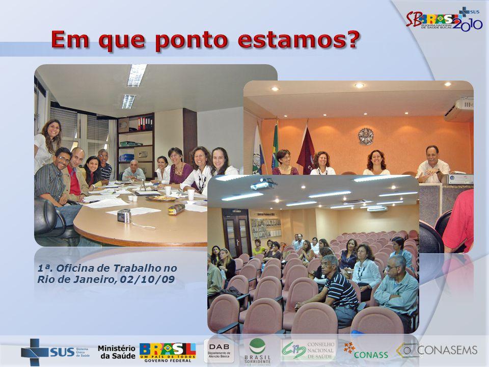 Em que ponto estamos 1ª. Oficina de Trabalho no Rio de Janeiro, 02/10/09