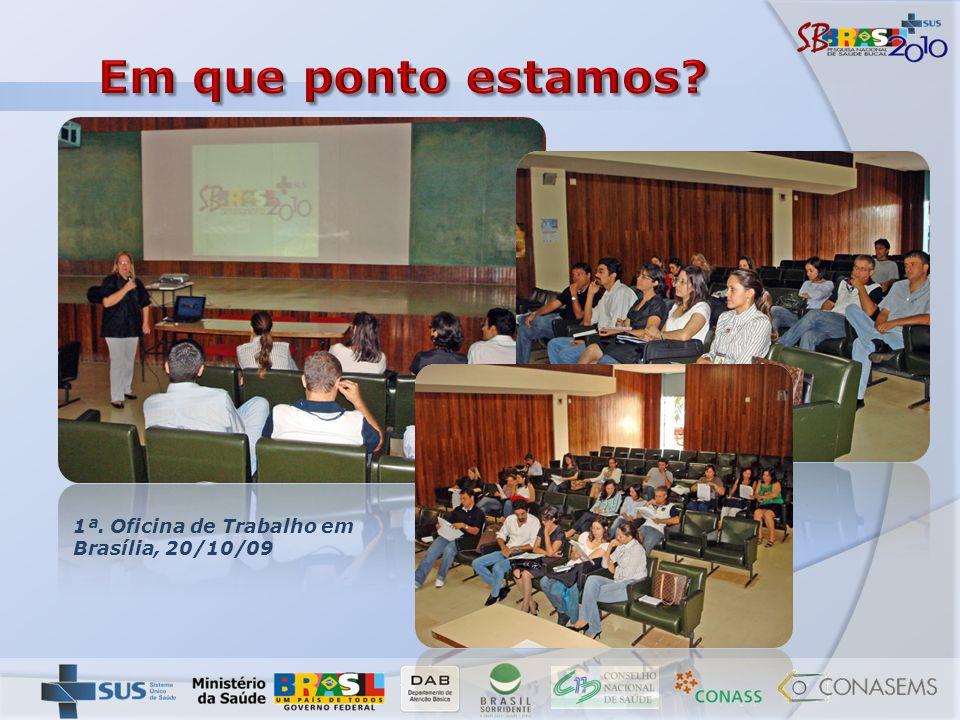 Em que ponto estamos 1ª. Oficina de Trabalho em Brasília, 20/10/09