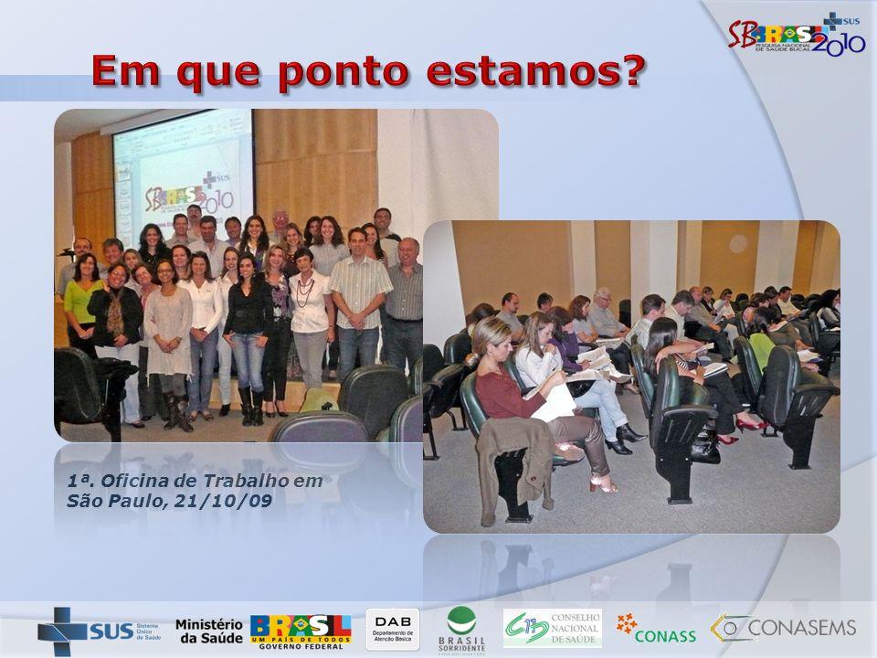 Em que ponto estamos 1ª. Oficina de Trabalho em São Paulo, 21/10/09
