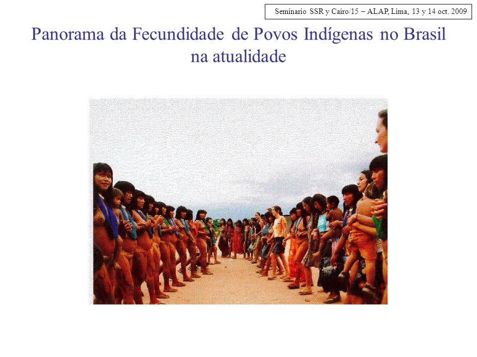 Panorama da Fecundidade de Povos Indígenas no Brasil na atualidade