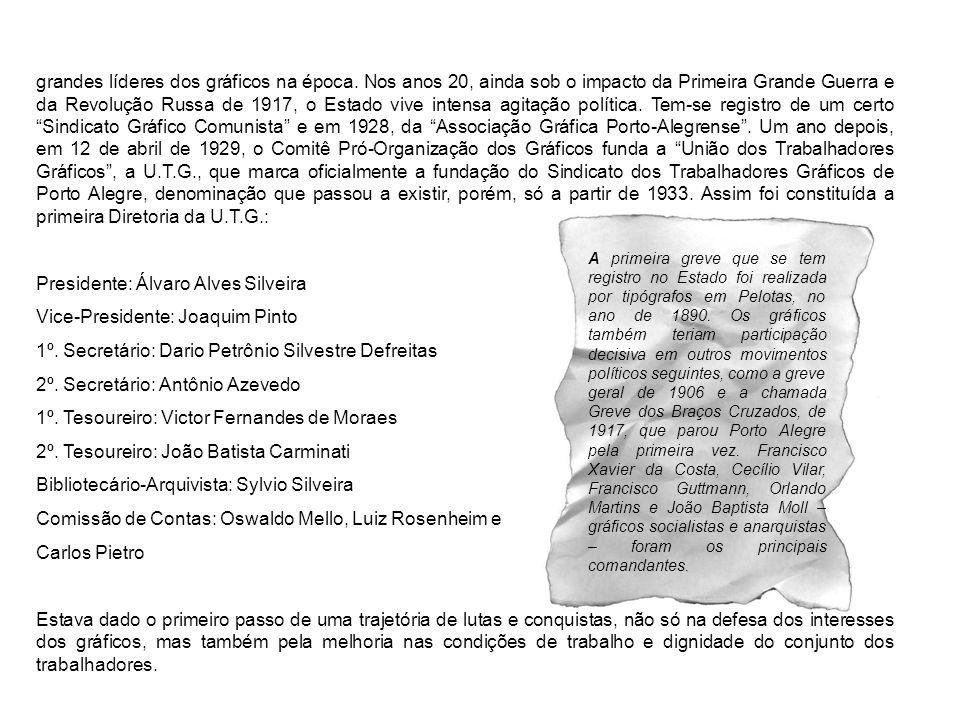 Presidente: Álvaro Alves Silveira Vice-Presidente: Joaquim Pinto