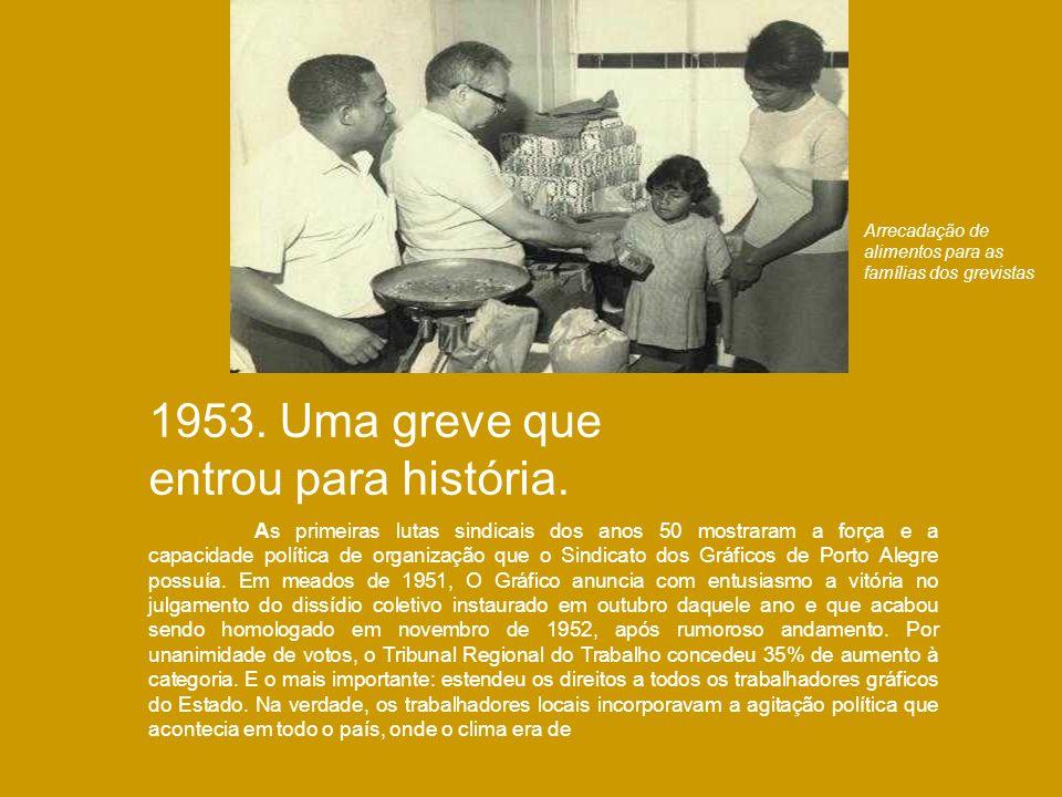 1953. Uma greve que entrou para história.