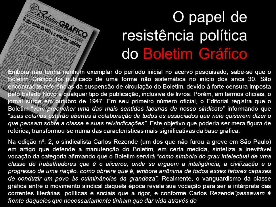 O papel de resistência política do Boletim Gráfico