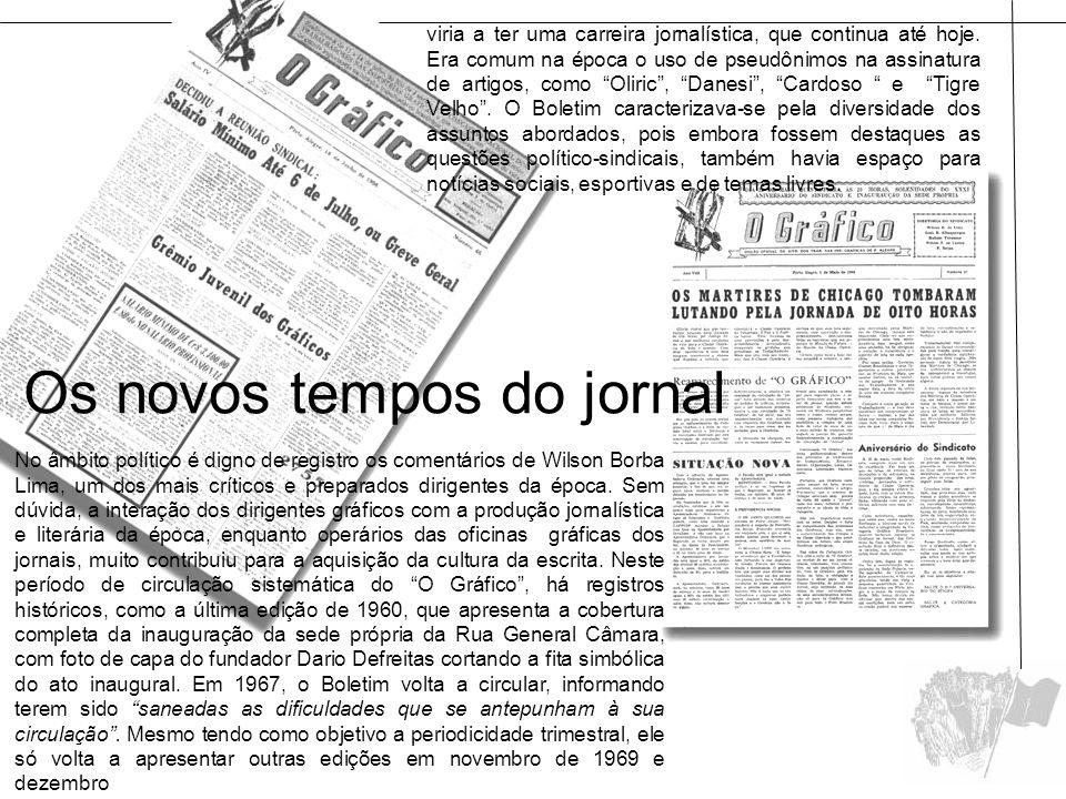 Os novos tempos do jornal