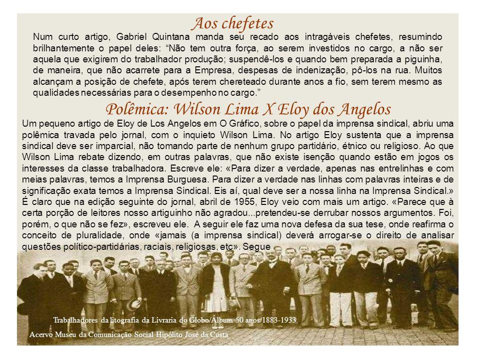 Polêmica: Wilson Lima X Eloy dos Angelos