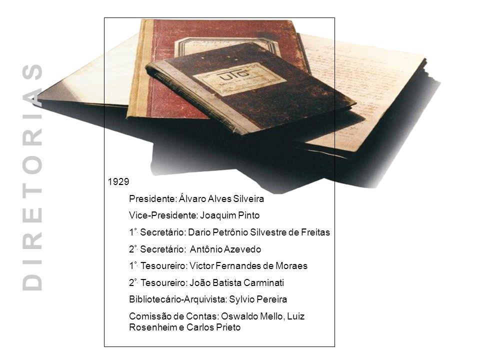 D I R E T O R I A S 1929 Presidente: Álvaro Alves Silveira