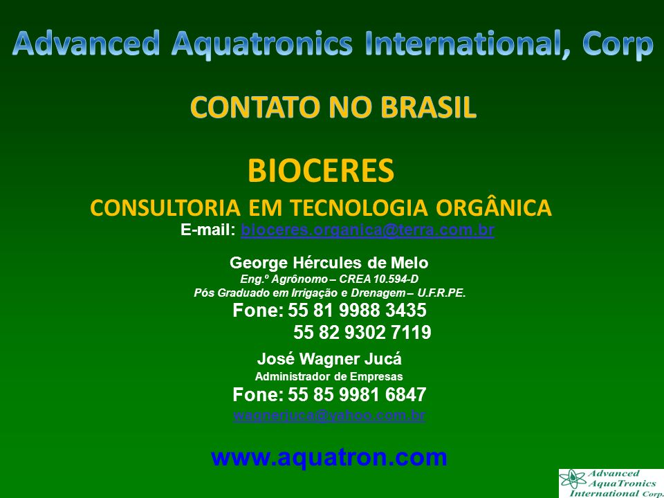 Advanced Aquatronics International, Corp BIOCERES