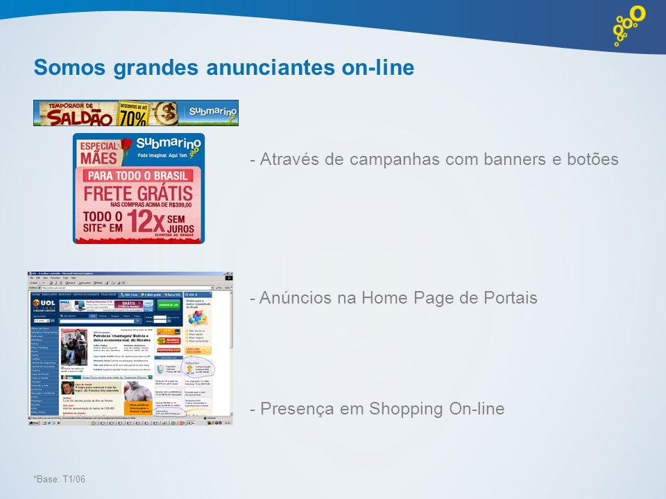 Somos grandes anunciantes on-line