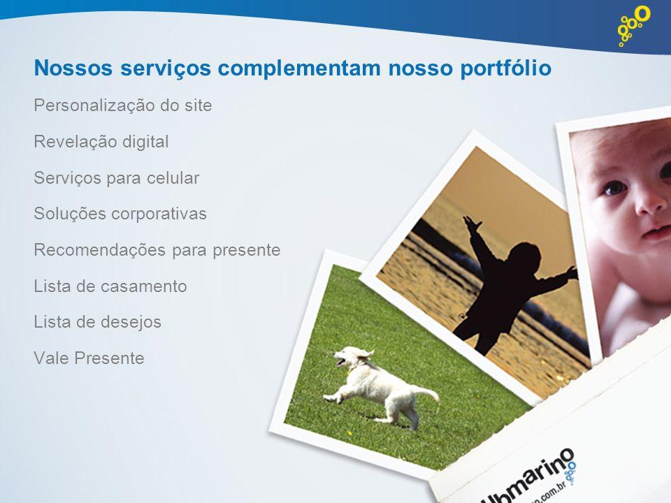 Nossos serviços complementam nosso portfólio