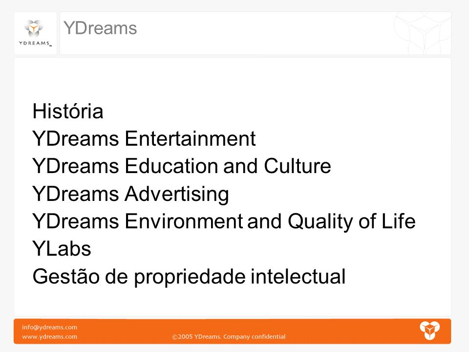 YDreams Entertainment YDreams Education and Culture