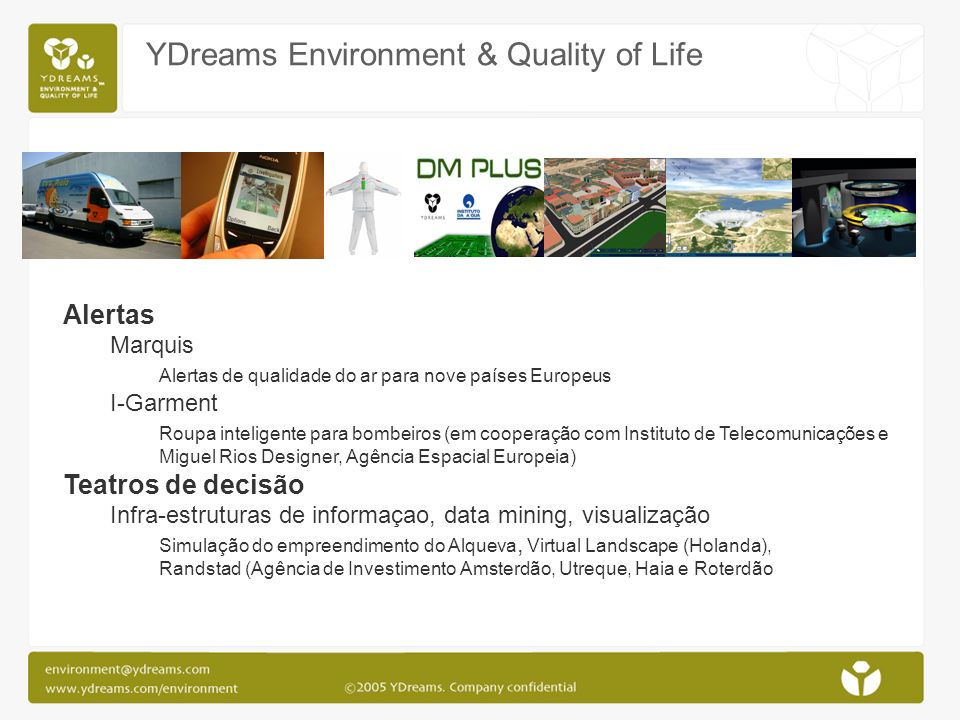 YDreams Environment & Quality of Life