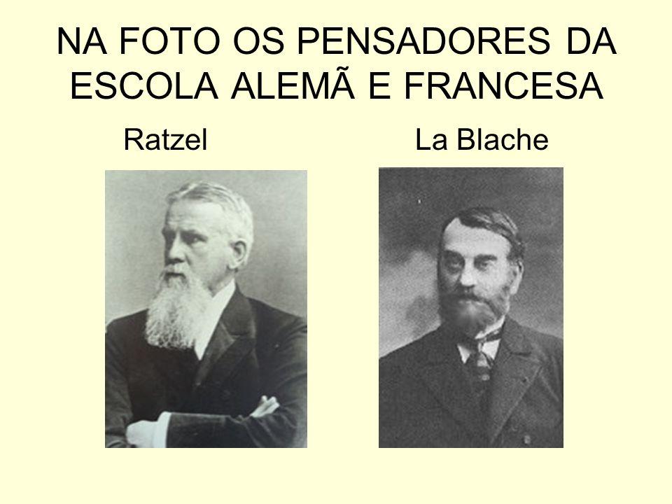 NA FOTO OS PENSADORES DA ESCOLA ALEMÃ E FRANCESA