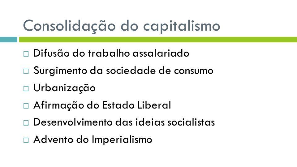 Consolidação do capitalismo