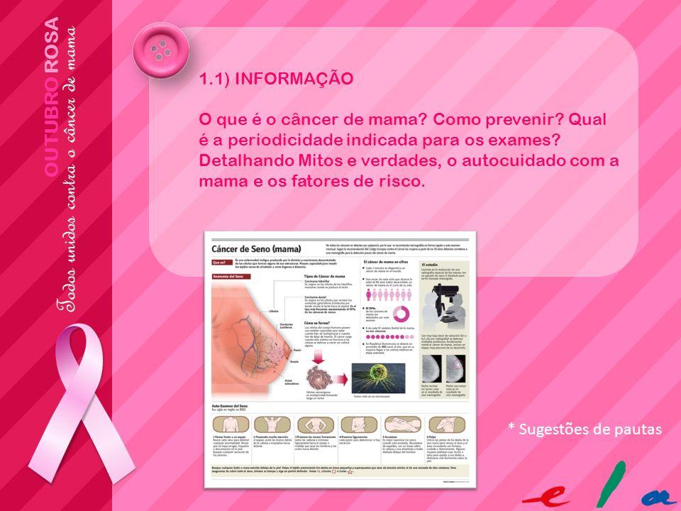 OUTUBRO ROSA 1.1) INFORMAÇÃO