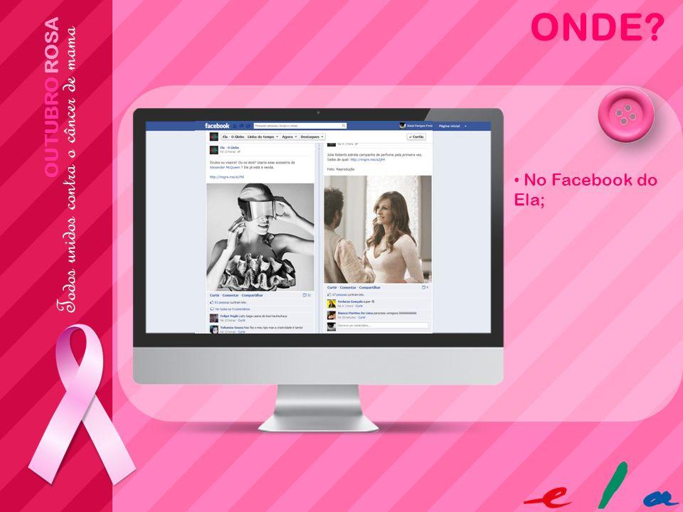 ONDE OUTUBRO ROSA No Facebook do Ela;