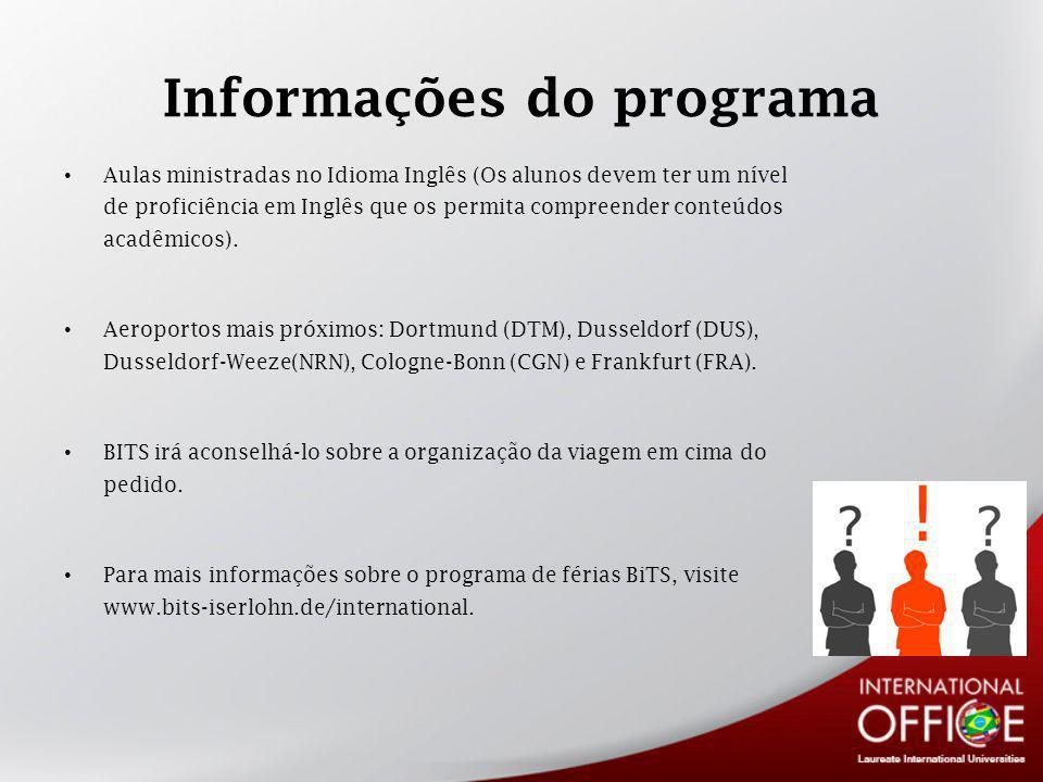 Informações do programa