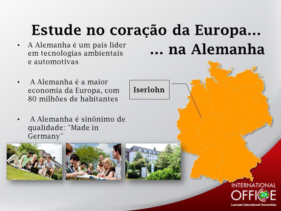 Estude no coração da Europa…