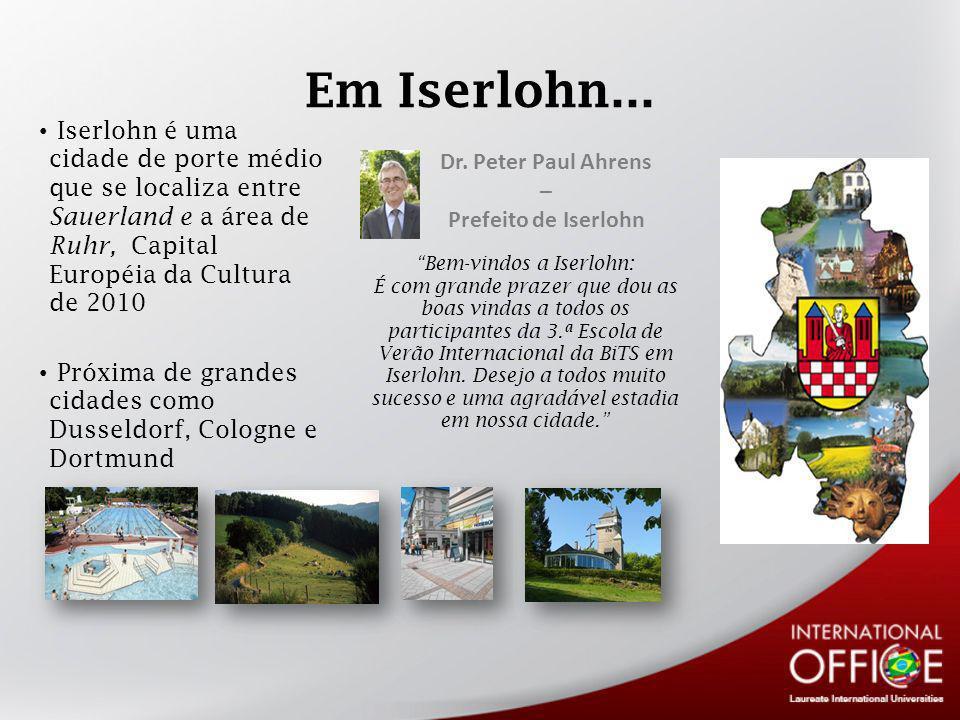 Bem-vindos a Iserlohn: