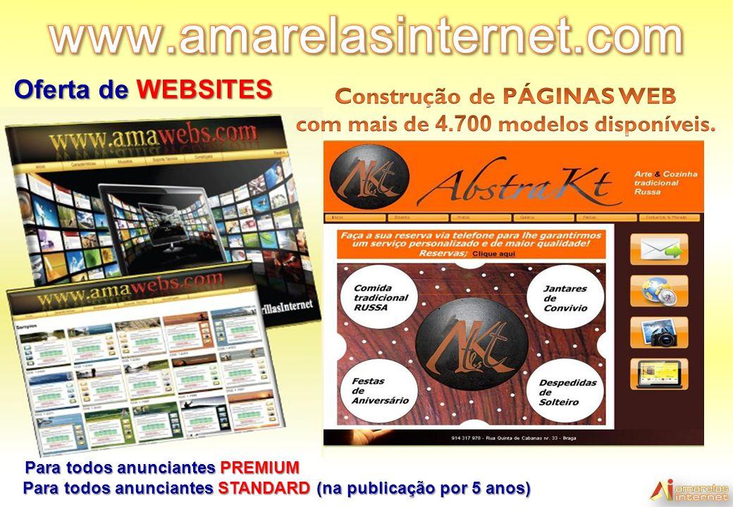 www.amarelasinternet.com Oferta de WEBSITES Construção de PÁGINAS WEB