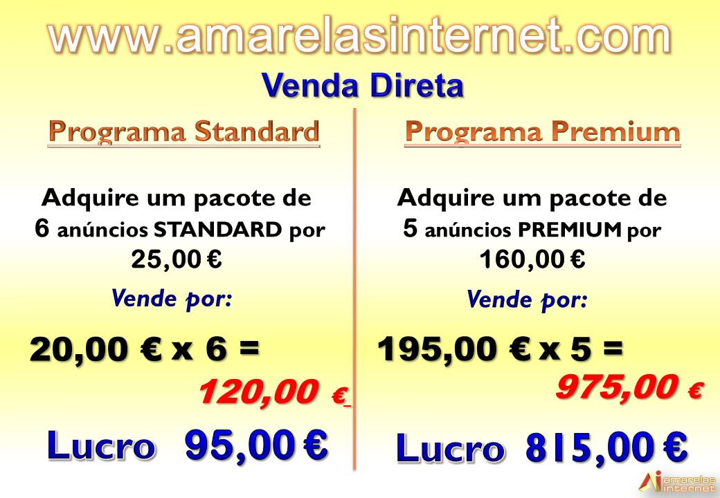 6 anúncios STANDARD por 25,00 €