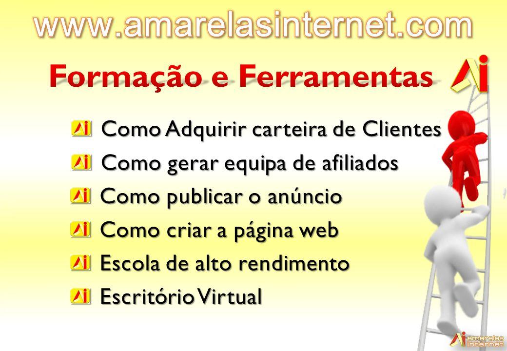 www.amarelasinternet.com Formação e Ferramentas
