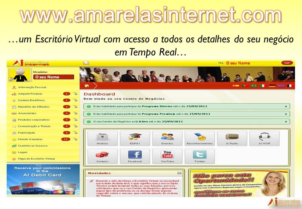 www.amarelasinternet.com …um Escritório Virtual com acesso a todos os detalhes do seu negócio em Tempo Real…