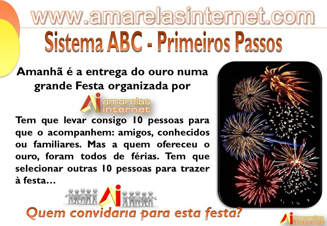 www.amarelasinternet.com Sistema ABC - Primeiros Passos