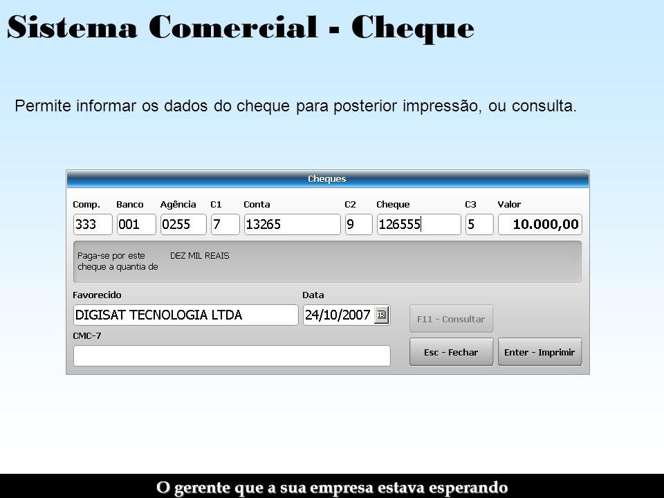 Sistema Comercial - Cheque