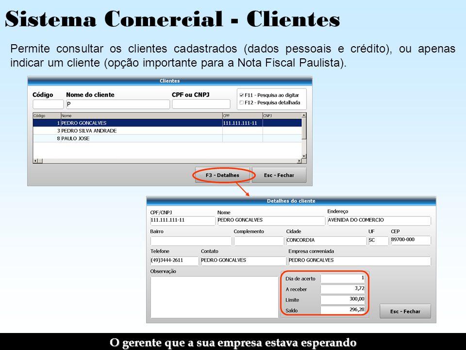 Sistema Comercial - Clientes