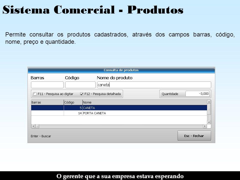 Sistema Comercial - Produtos