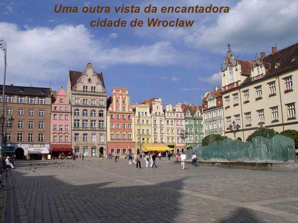 Uma outra vista da encantadora cidade de Wroclaw