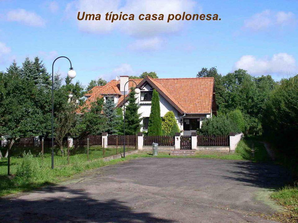 Uma típica casa polonesa.