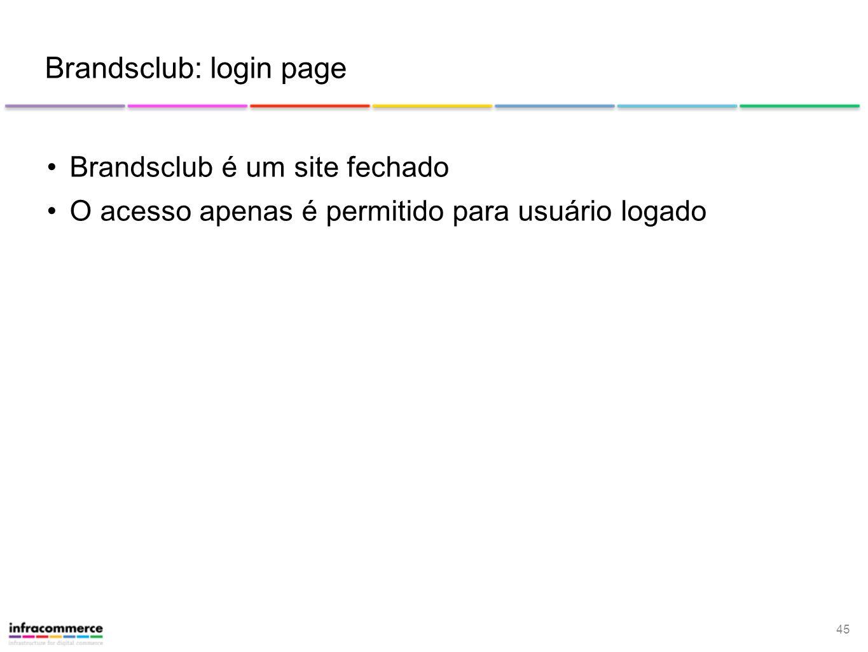 Brandsclub: login page