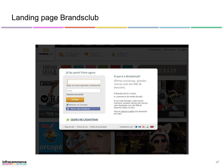 Landing page Brandsclub