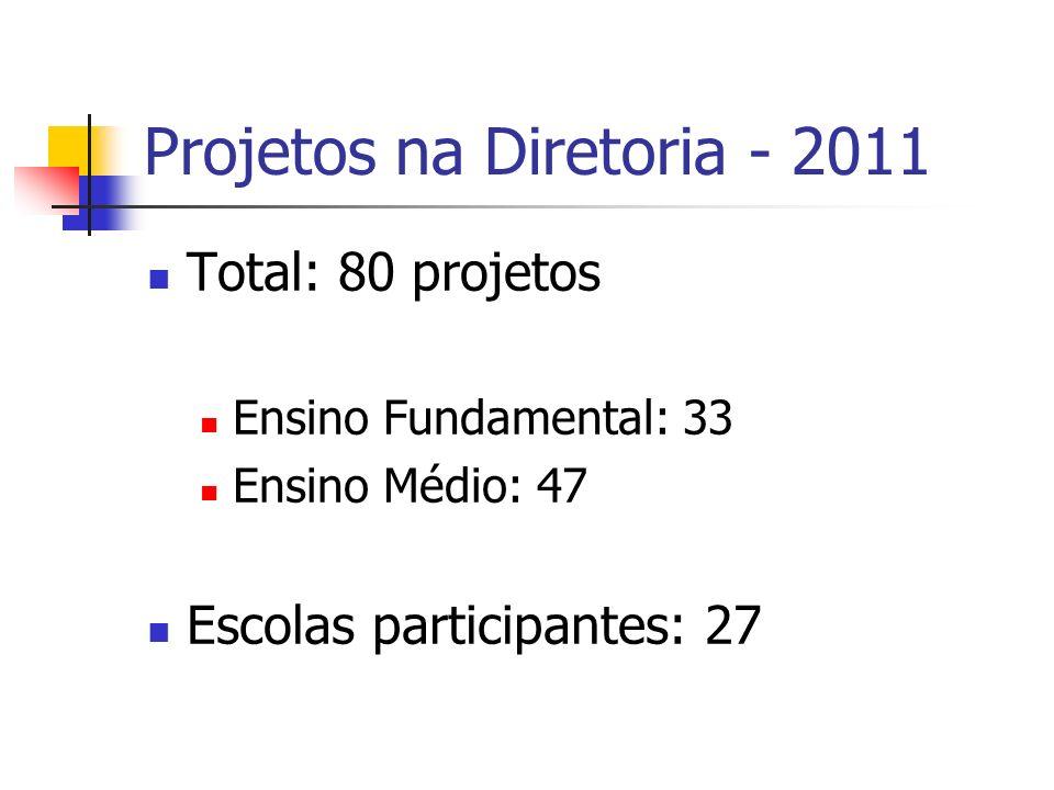 Projetos na Diretoria - 2011