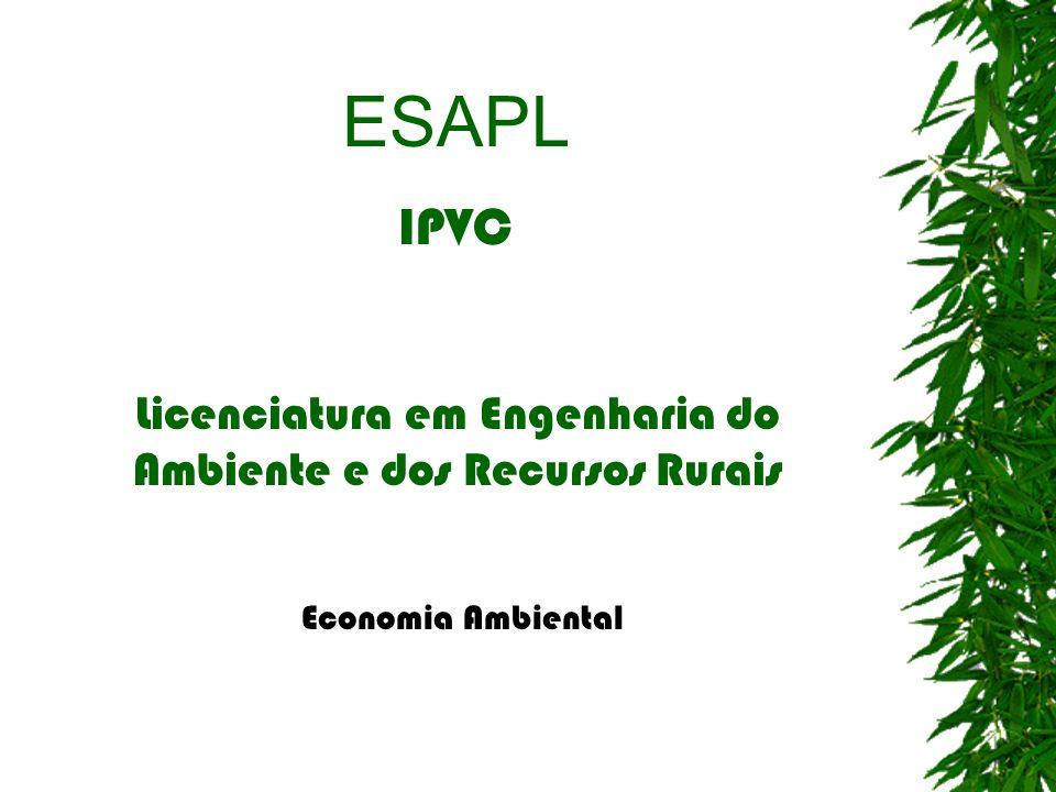 Licenciatura em Engenharia do Ambiente e dos Recursos Rurais