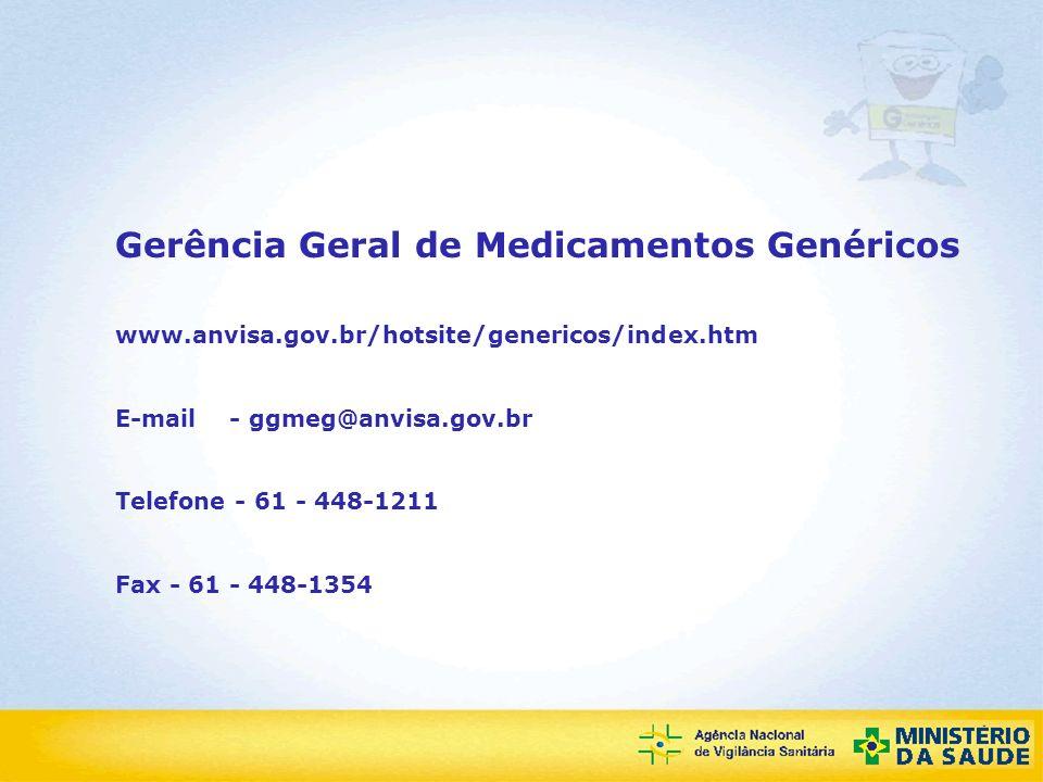 Gerência Geral de Medicamentos Genéricos