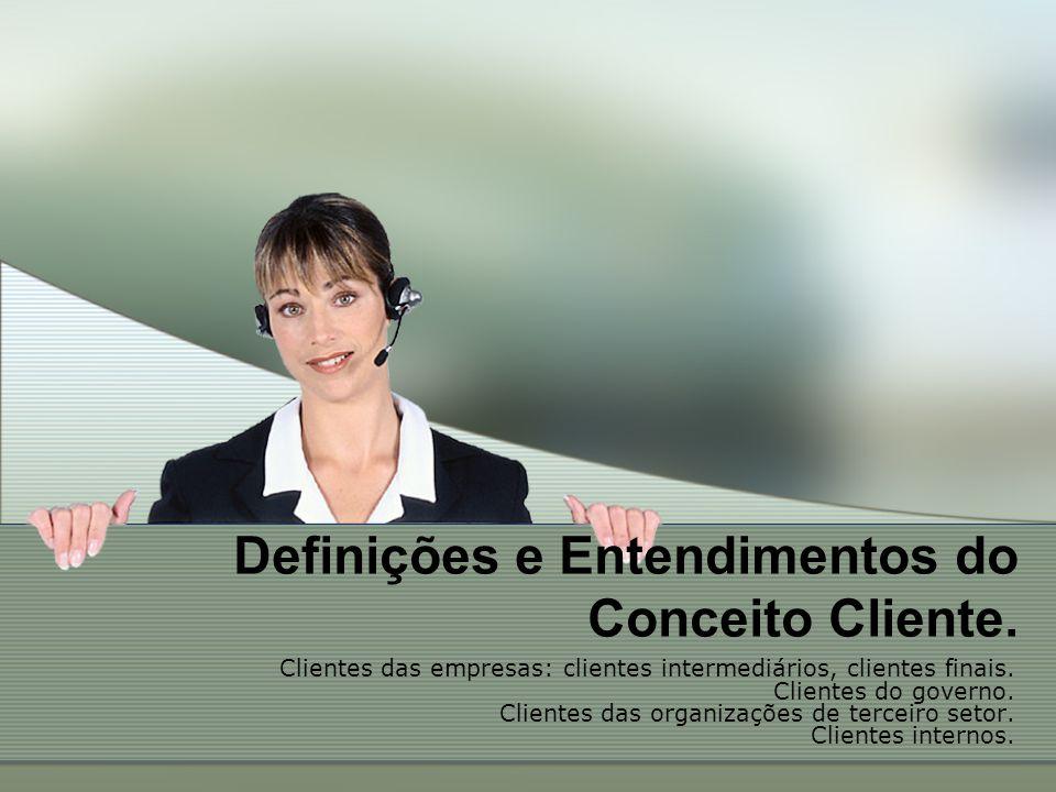 Definições e Entendimentos do Conceito Cliente.