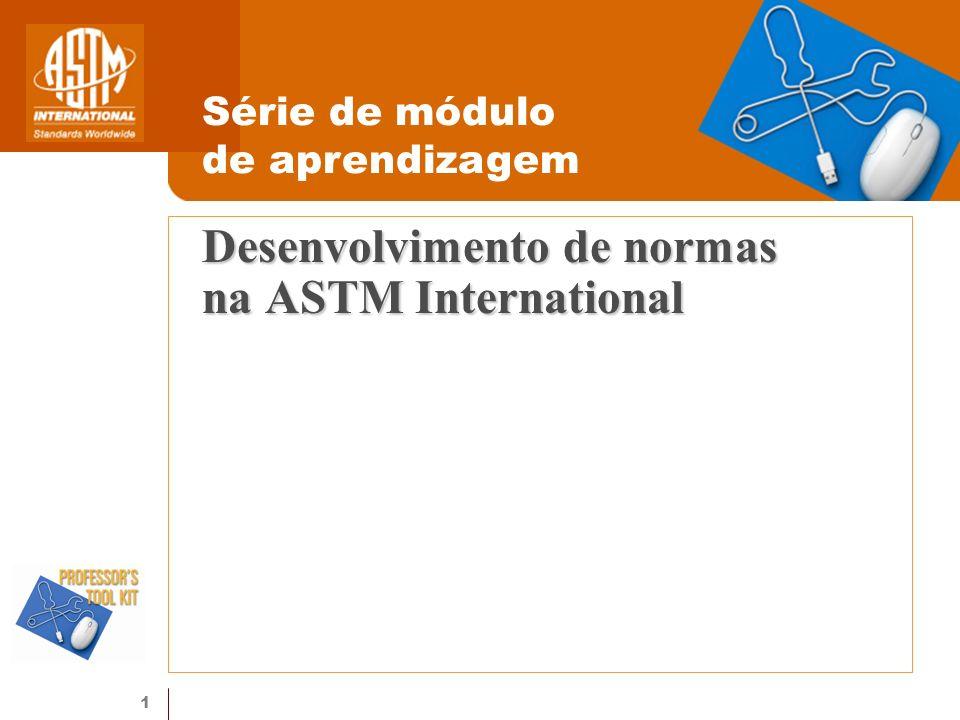 Desenvolvimento de normas na ASTM International