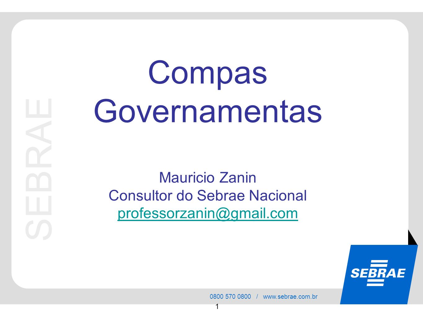 Consultor do Sebrae Nacional